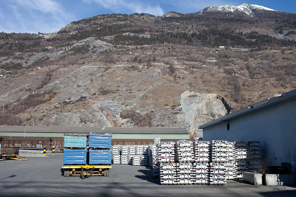 Alcan, Aluminiumgiesserei, Sierre, 2011